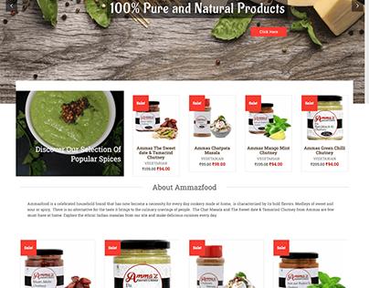 Food E-commerce site