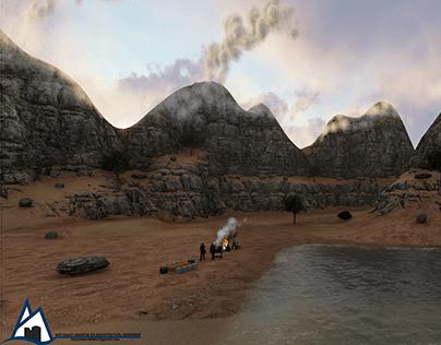 Beach barbeque