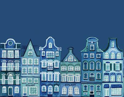 Ilustração - Amsterdam