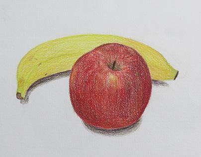 色鉛筆水果