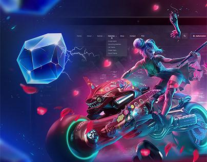 CYBERPUNK / UX UI GAME DESIGN / CYBERSPORT