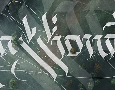 A I R V I E W /// Experimental Calligraphy Session