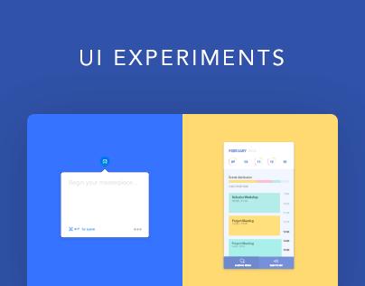 UI Experiments