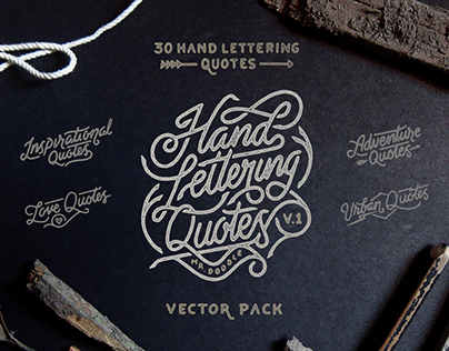 Hand Lettering Quotes v.1