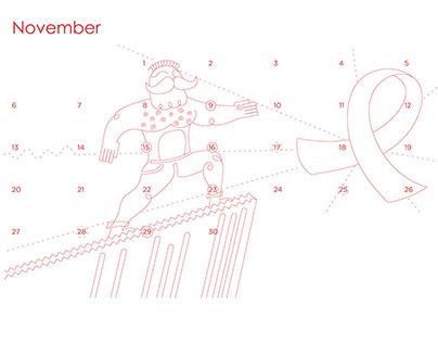 SANBS Calendar Illustrations
