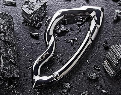 Arcus Carabiner, sculptural keyholder for Svorn