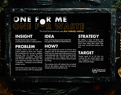 Cannes Young Lions UNWFP - One for me, one for waste
