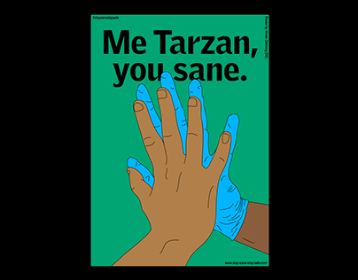 »Me Tarzan, you sane.« Poster-Design