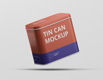 Tin Can Mockup Rectangle