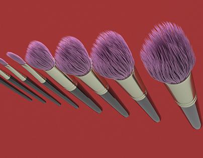 3D Brush Set 3 model