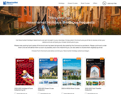 Newmarket Holidays Brochures Website