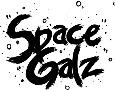 """Space Galz"" Skate Deck Design"