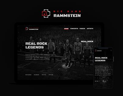 RAMMSTEIN - site redesign