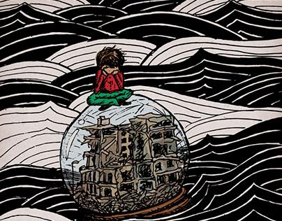 Ilustración para la muestra #Refugiarte