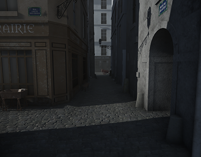 3D - Old Paris Street