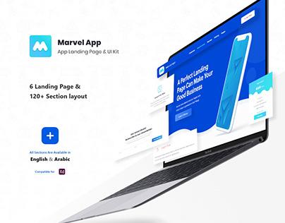 Marvel Apps Landing Page UI Kits