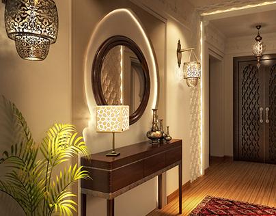 Moroccan Reception Interior Design.
