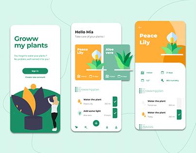Plants care app - Groww my plants