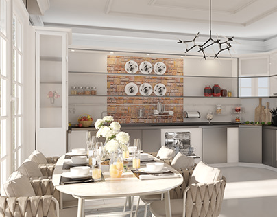MODERN KITCHEN WITH DINING - DAY MODE