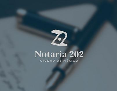 Notaría 202 Logo Design