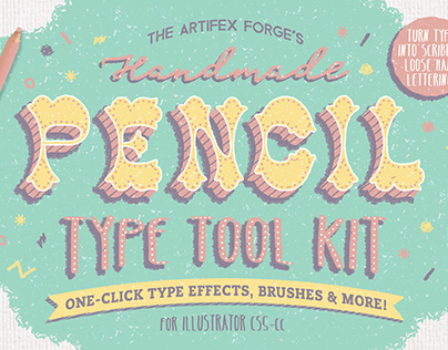 Pencil Type Tool Kit - Create awesome hand lettering!