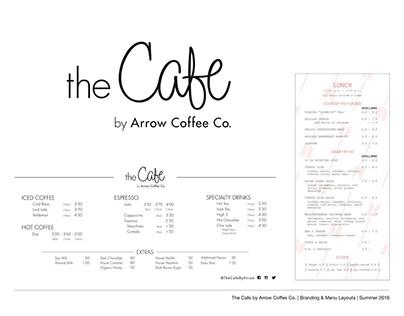 The Cafe - Branding & Menu Layout