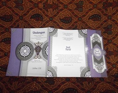 Salma Islamic Wedding Invitation Designs.
