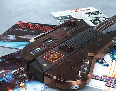 Sci-Fi Guitar concept: The Blastercaster