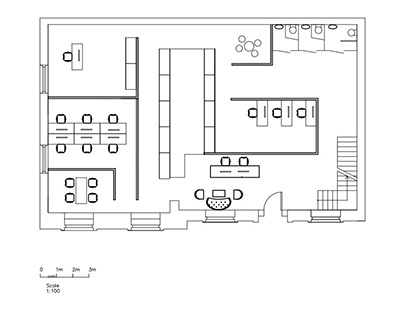 Interior design student: A two-floor office building