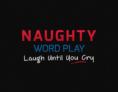 Naughty Word Play - Board Game Box Design