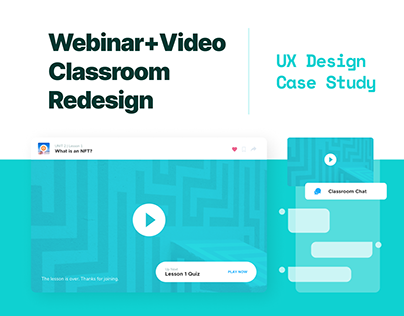 Video & Webinar Platform UX
