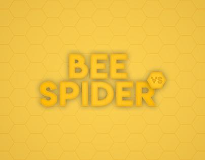 BEE VS SPIDER
