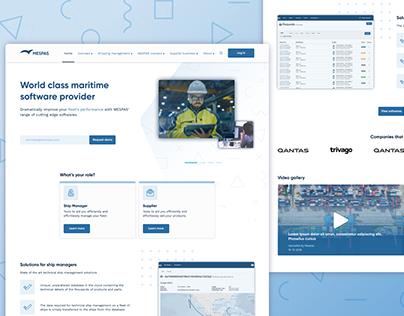 Mespas shipping software website ui/ux redesign