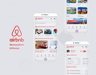 Airbnb Neumorphism Concept // UI Design