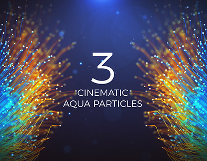 Cinematic Aqua Particles 3