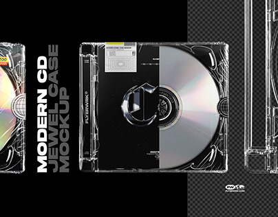 Modern CD Jewel Case Mockup
