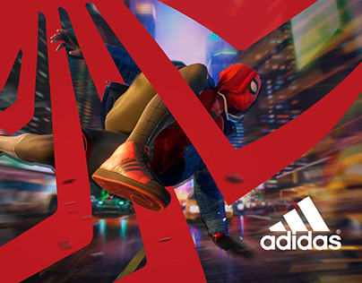 Spiderman Miles Morales Adidas Superstar Poster