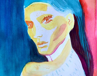 Fashion watercolor portraits