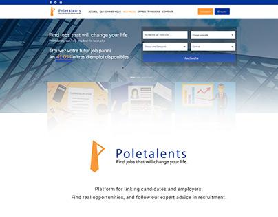 Poletalents UI design