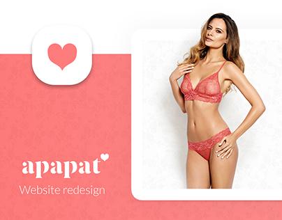 Apapat - website redesign