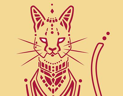 Serval African Cat