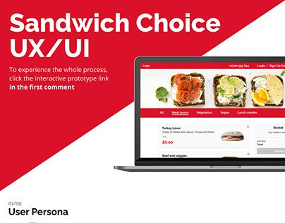 Sandwich Choice UX/UI