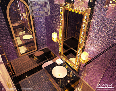 Toilet rooms interiors. A Posteriori Residence.