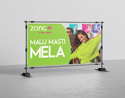 Banner Design | Mauj Masti Mela | ZONG 4G A NEW DREAM