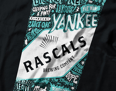 Rascals Brewing Co - Cheeky Pint Illustration