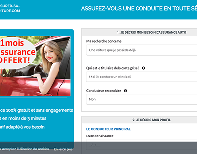 Landing page Assurance voiture