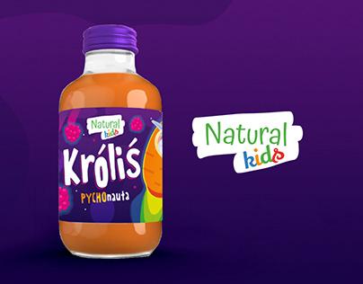 Natural Kids | Etykieta nektaru dla dzieci |