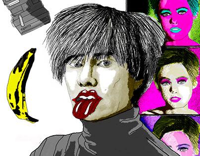 Ilustración Andy Warhol
