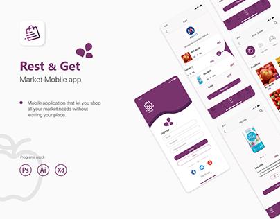 Rest & Get Mobile app UI design