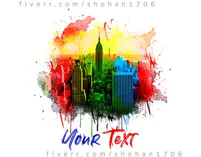 Watercolor Tshirt & Hoodies design